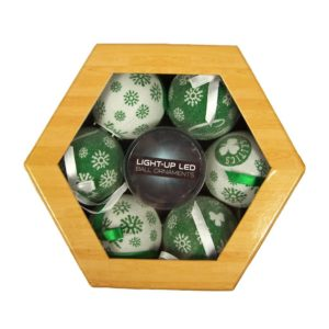 Boston Celtics LED Illuminated Ornament set