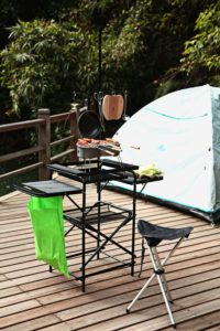 Magicook Folding Portable Cooking table for tailgate Parties
