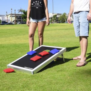 Cornhole is a perennial tailgate party game