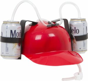 Beer and Booze Accessories - 2 can Guzzler Helmet