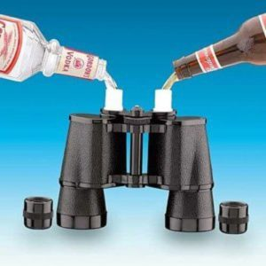 Beer and booze accessories - these binoculars hold booze