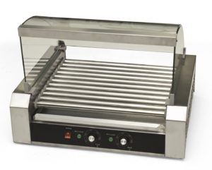 Commercial hot dog cooker - 11 rollers