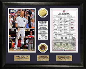 MLB Gifts Derek Jeter Final All-Star Lineup and Gold Coin framed