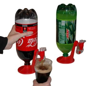 Fizz Saver Refrigerator dispenser for 2 liter bottle