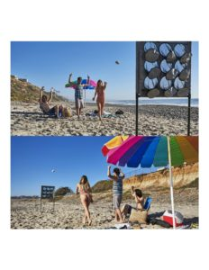 Versatile football toss game for tailgate parties and beach