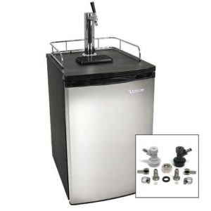 EdgeStar fullsized kegerator with castors for easy moving.