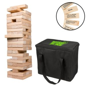 Giant Stacking Game with Drinking Instructions