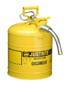 Justrite Accuflow safety can for oil