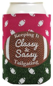 Keeping it Classy Sassy Koozie for tailgate parties