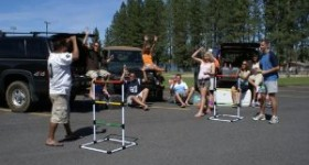 Tailgate Party Games: Ladder Toss