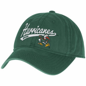NCAA Accessory Miami Hurricanes Women's Adjustable Slouch Cap