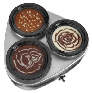 Chocolate in the Little Triple Dipper Slow Cooker