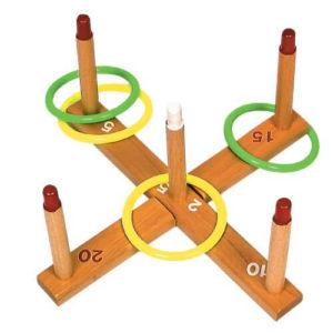 Ring toss set is easy to pack