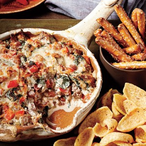 Tailgate Dip: Sausage Bean & Spinach
