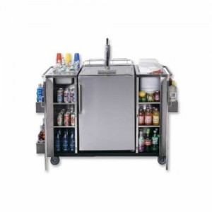Summit SS Outdoor Serving Cart w/ Kegerator