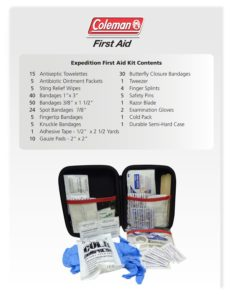 Tailgate Party Supplies need the Coleman first aid kit