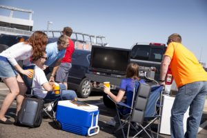 Tailgate party generator can run your TV