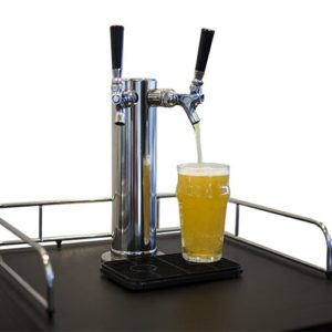 Two taps on the EdgeStar Kegerator