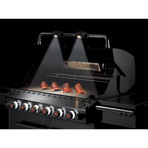 Weber Summit with night lights